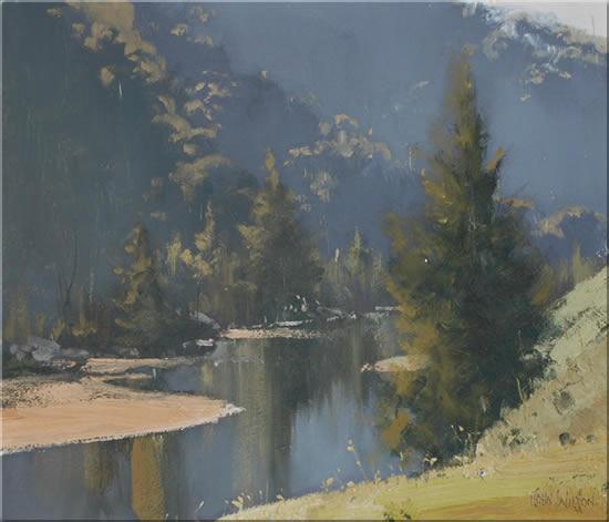 John Wilson Australian Landscape Oil Paintings. Blue Mountains Artist.