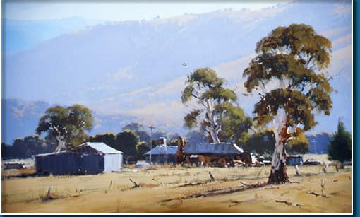 High Country Homesteads - Tumut NSW  -  90 x 60; John Wilson