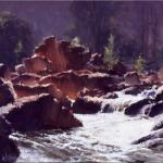 The Pink Rocks - Cox's River  -  30 x 30  © Copyright John Wilson