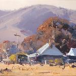 Sketch - Valley Homestead  25 x 10  © Copyright John Wilson